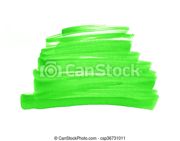 Abstract hand painted watercolor background green - csp36731011
