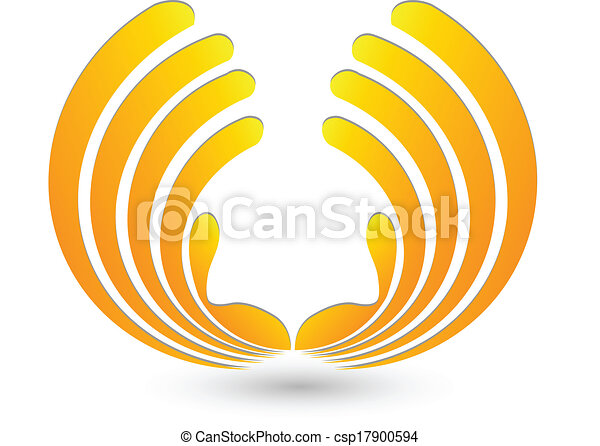 Abstract hands logo - csp17900594