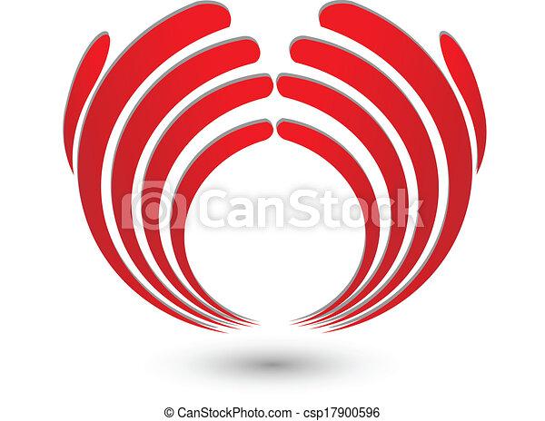 Abstract hands logo - csp17900596
