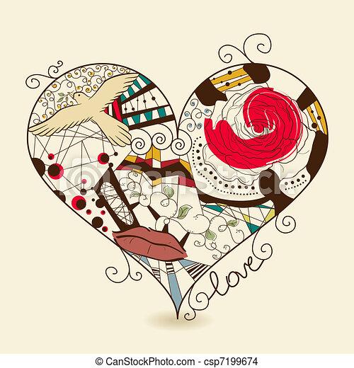 Abstract heart - csp7199674
