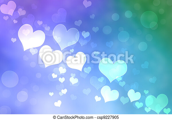 Abstract Heart Lights Background - csp9227905