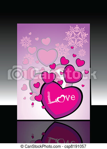 abstract heart shape concept design with text love greeting card for happy new year csp8191057
