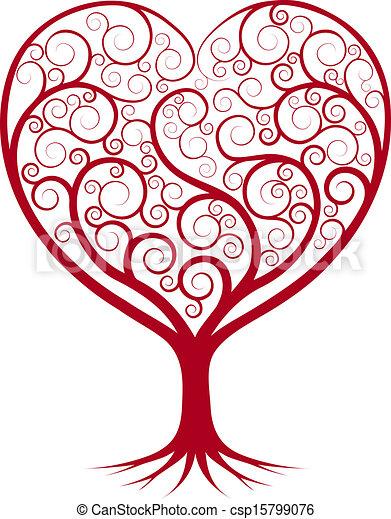 Abstract heart tree - csp15799076