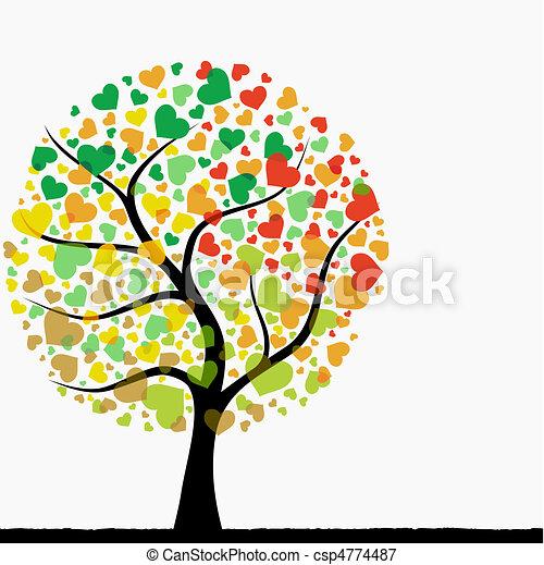 Abstract heart tree csp4774487