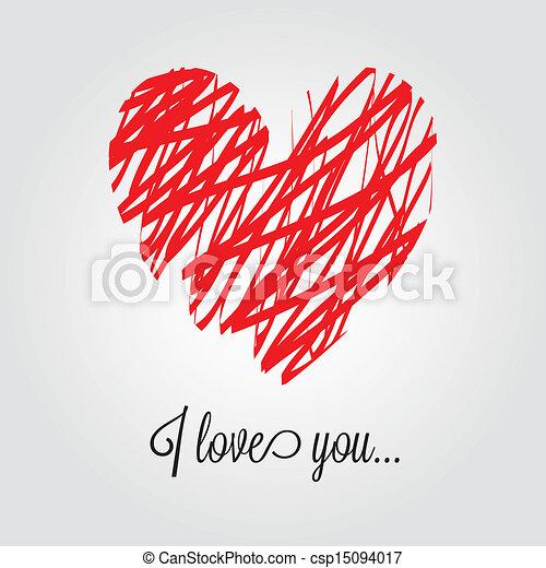 abstract heart - csp15094017