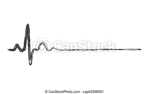 Abstract Heartbeat Icon Illustration Hand Drawn Heartbeat Icon