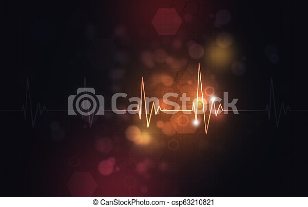 Abstract Heartbeat Illustration - csp63210821