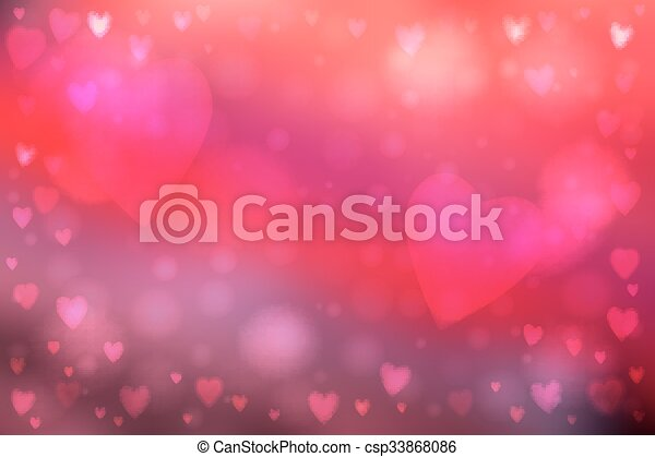 Clip Art Line Of Hearts : Abstract hearts lights background smooth blur pink