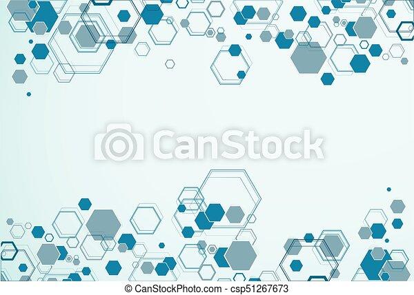 Abstract hexagonal structures - csp51267673