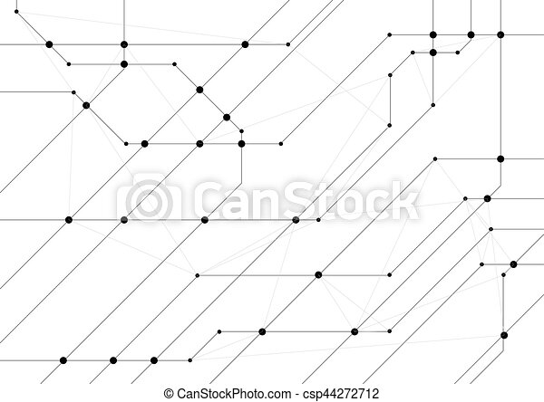 Abstract hi-tech background with circuit board chip. grey... vector ...
