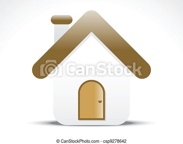 abstract home icon vector  - csp9278642