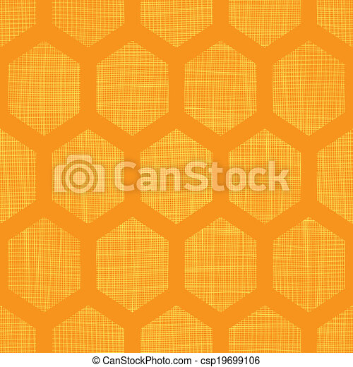 Abstract honey yellow honeycomb fabric textured seamless pattern background - csp19699106