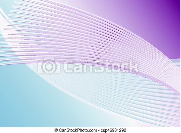 Abstract horizontal background in soft purple and blue, diagonal wavy line shapes - csp46931292