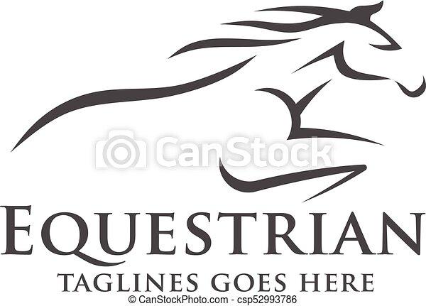abstract Horse racing logo template - csp52993786