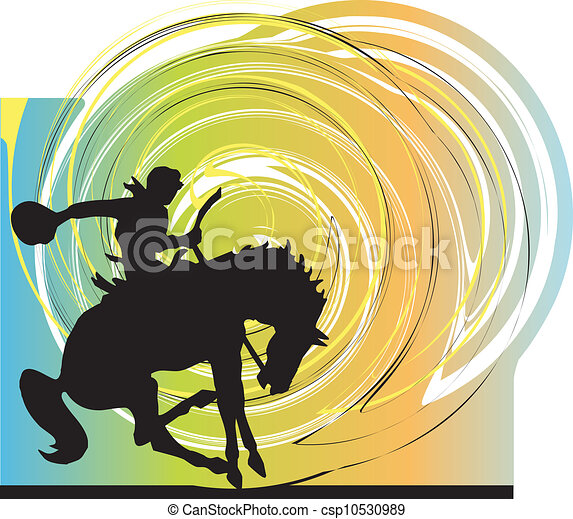 Abstract horses silhouettes. Vector - csp10530989