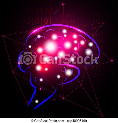 Abstract human brain. - csp48998499