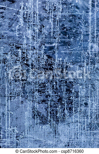 abstract Ice texture Winter background - csp8716360