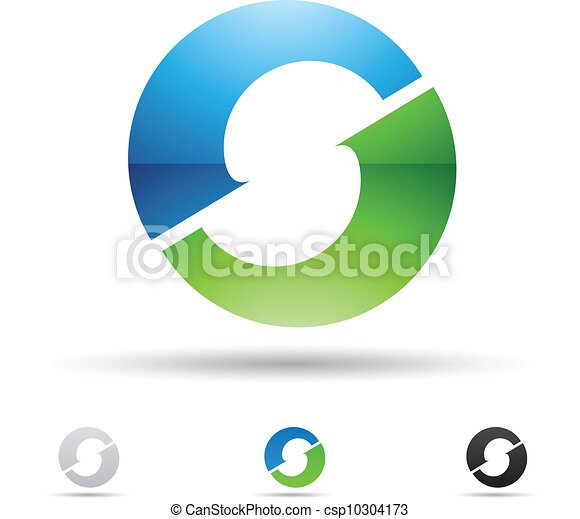 Abstract icon for letter O - csp10304173