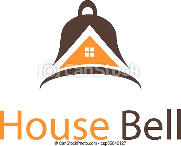 Abstract icon house in bell. Vector - csp35842127