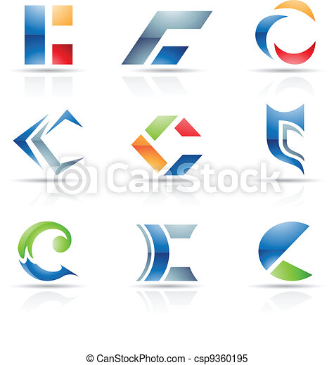 Abstract icons for letter C - csp9360195
