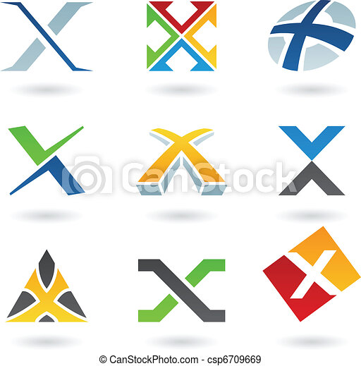 Abstract icons for letter X - csp6709669