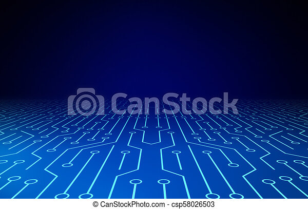 abstract., illustration., model, board., circuit, achtergrond, high-tech, technologie, texture., 3d - csp58026503