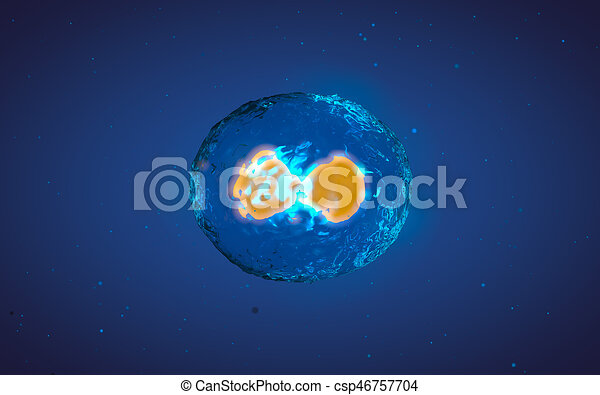 Abstract illustration of cell in mitosis or multiplication - csp46757704