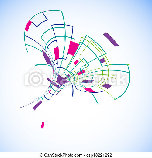 Abstract illustration with space for your business message - csp18221292