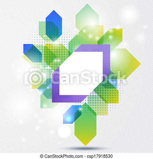 Abstract illustration with space for your business message - csp17918530