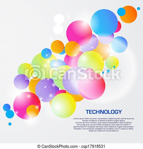 Abstract illustration with space for your business message - csp17918531