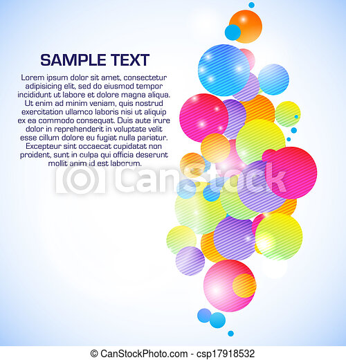 Abstract illustration with space for your business message - csp17918532