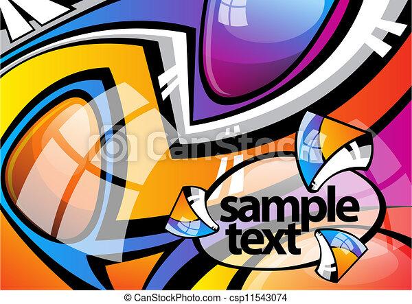 abstract image graffiti - csp11543074