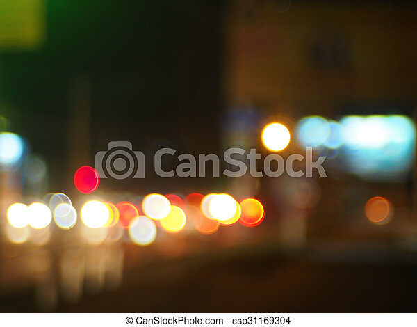 Abstract image of a night city scene - csp31169304