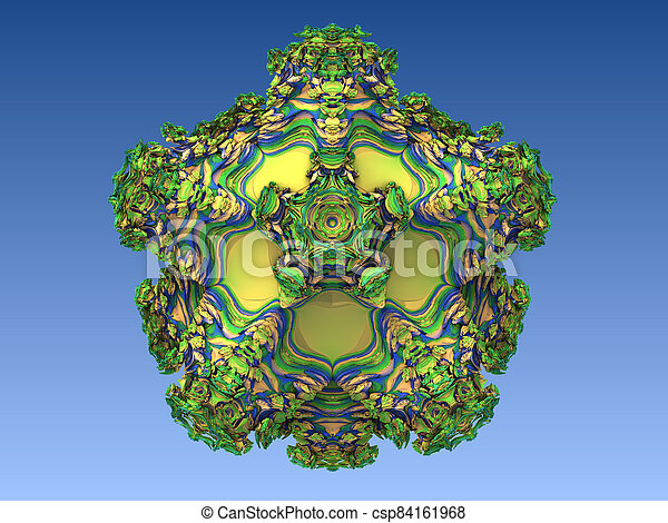 Abstract image of a virus cell, macro, closeup. 3d rendering - csp84161968