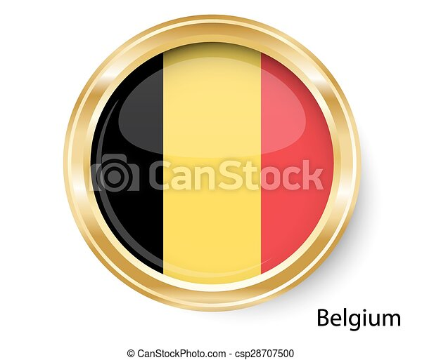Abstract image of the Belgian flag - csp28707500