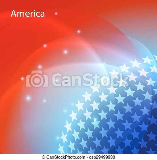 Abstract image of the USA flag - csp29499930