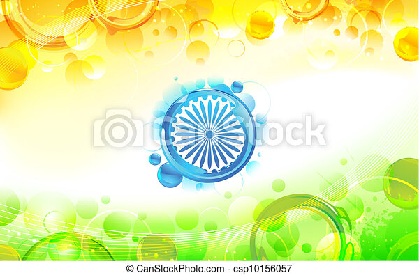 Abstract Indian Flag Background - csp10156057