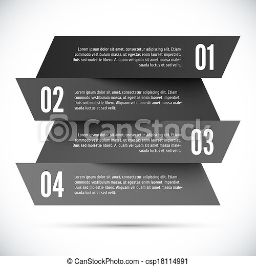 Abstract infographic template - csp18114991