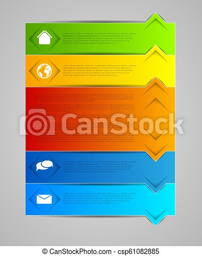 abstract infographic template - csp61082885