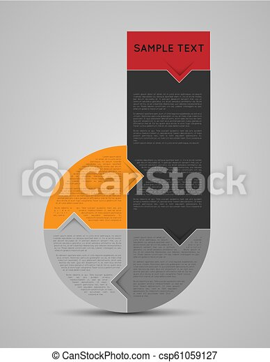 abstract infographic template - csp61059127