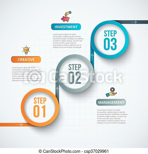 Abstract infographics number options template. - csp37029961