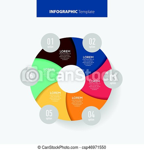 Abstract infographics number options template. Vector illustration. Can be used for workflow layout, diagram, business step options, banner, web design. - csp46971550