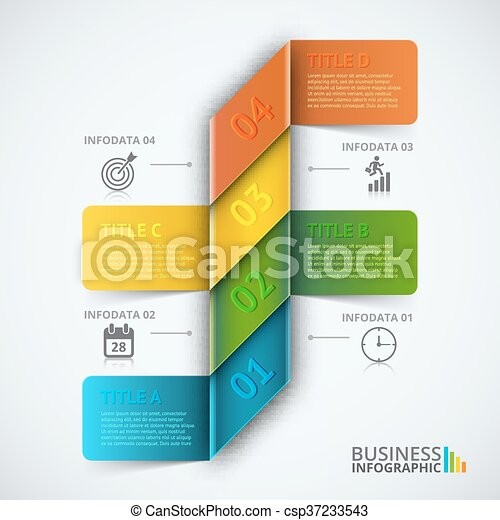 Abstract infographics number options template. - csp37233543