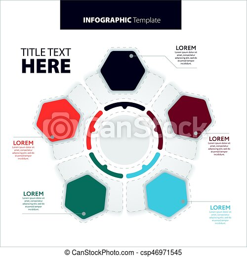 Abstract infographics number options template. Vector illustration. Can be used for workflow layout, diagram, business step options, banner, web design. - csp46971545