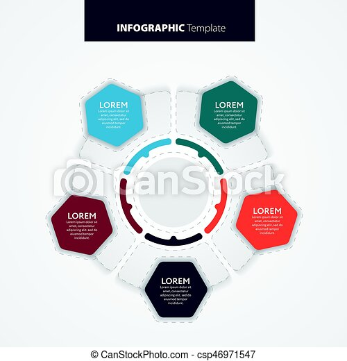 Abstract infographics number options template. Vector illustration. - csp46971547