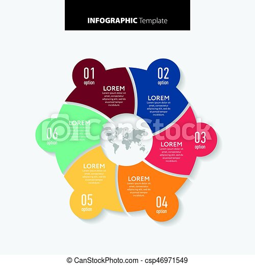Abstract infographics number options template. Vector illustration. Can be used for workflow layout, diagram, business step options, banner, web design. - csp46971549