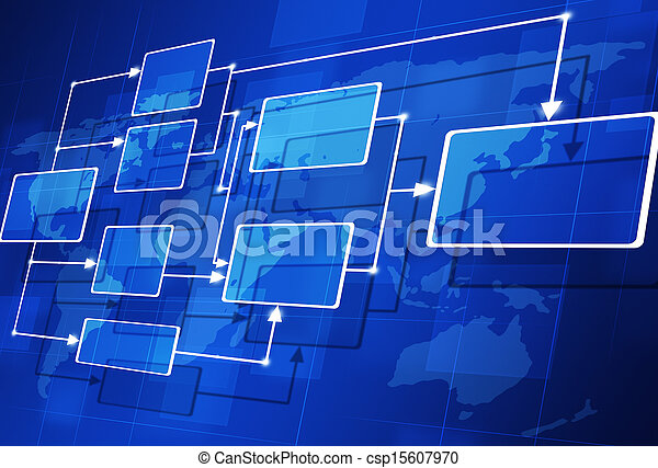 abstract, informatiestroomschema - csp15607970