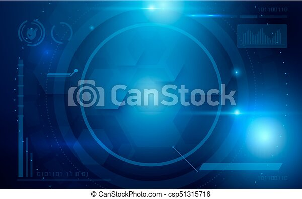 Abstract Interface Virtual Future Technology System Health And Care Info Concept On Blue Background