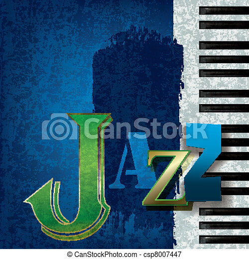 Abstract jazz music background - csp8007447