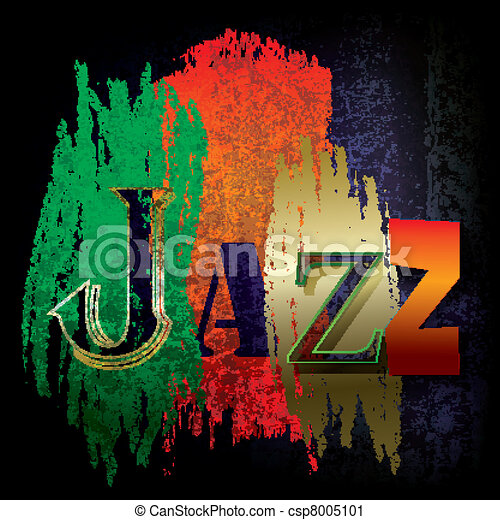 Abstract jazz music background - csp8005101